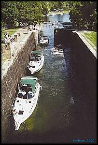 Boats in Lock at Jones Falls